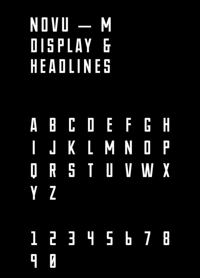 Novu-M-free typeface