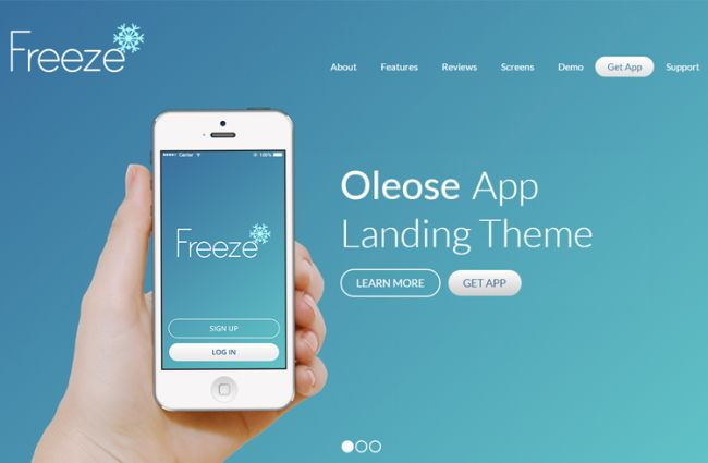 Oleose-fully responsive Bootstrap 3 landing page template