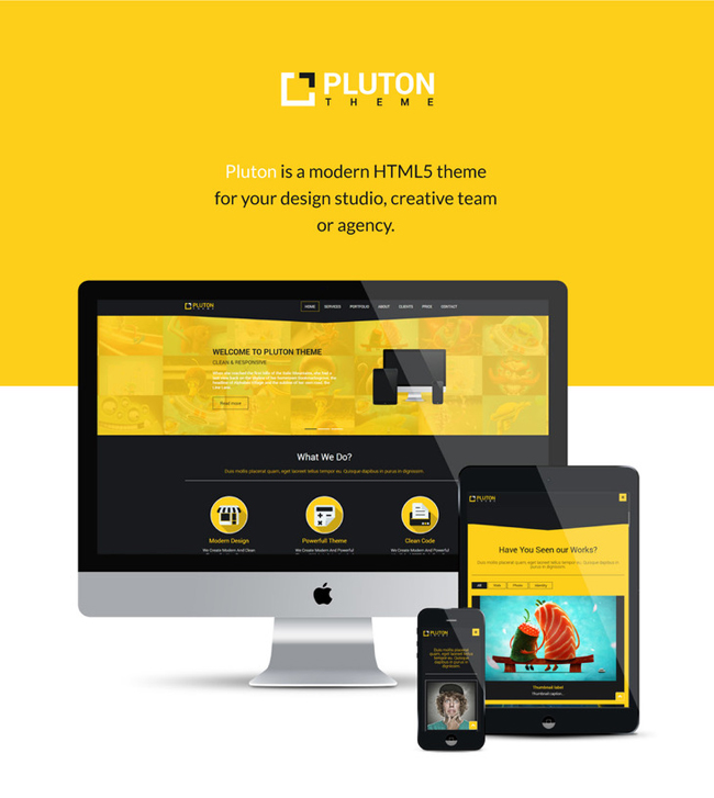 Pluton-Free Single Page Bootstrap Html Template
