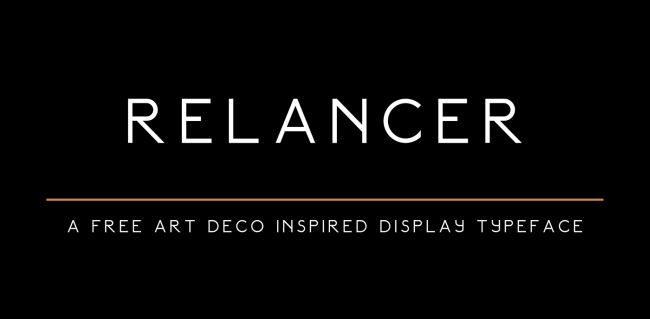 Relancer-free Display Font