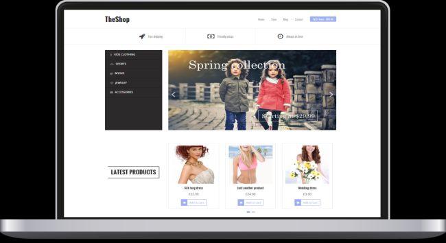 TheShop-free e-commerce WordPress theme