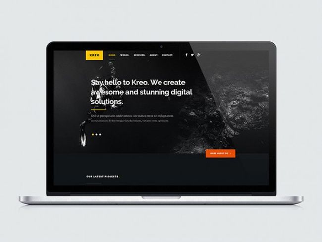 Kreo – Free Responsive One PageWebsite Template