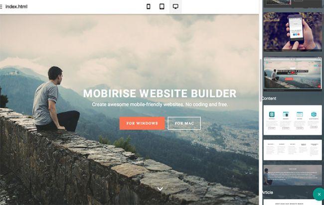 Mobirise-Free Offline Web Site Builder