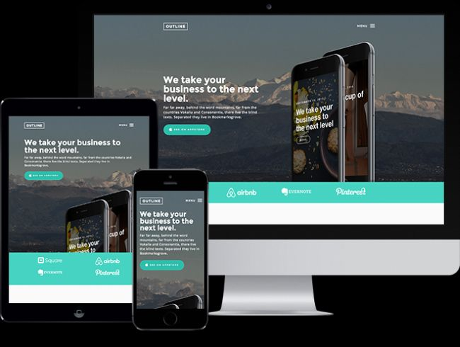 Outline-Free HTML5 Bootstrap Template