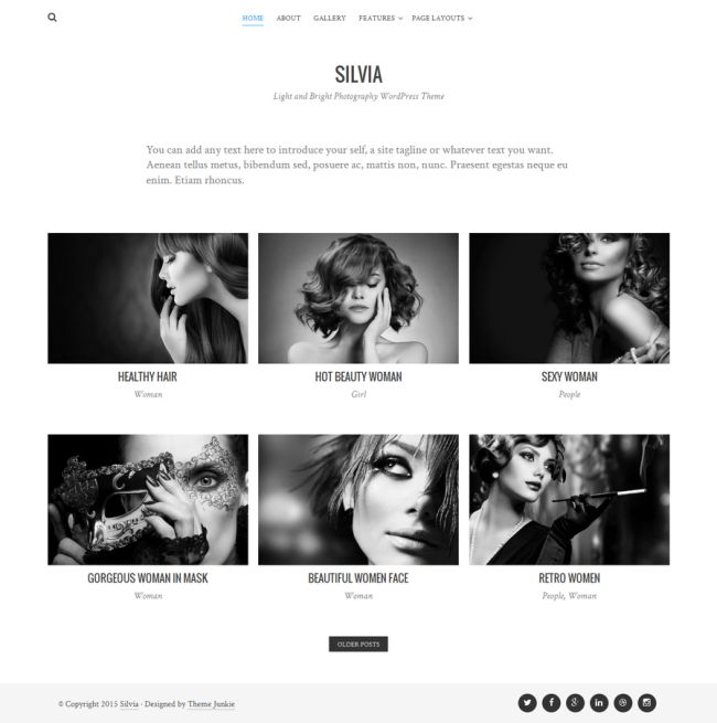 SILVIA – FREE PHOTOGRAPHY WORDPRESS THEME