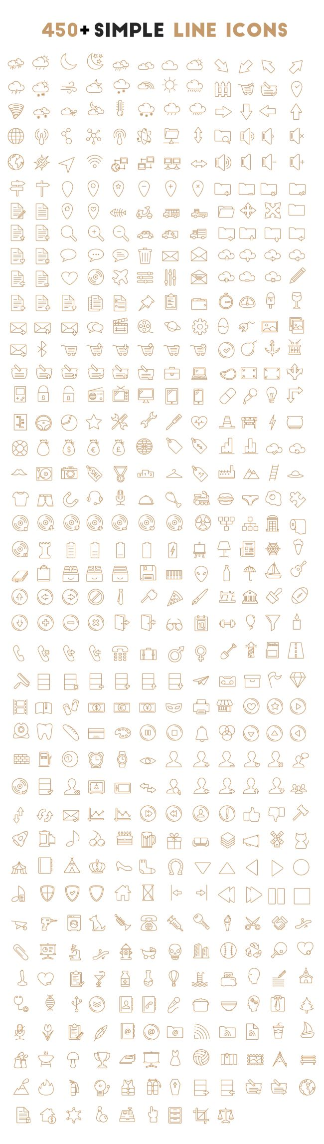 450+ free vector icons
