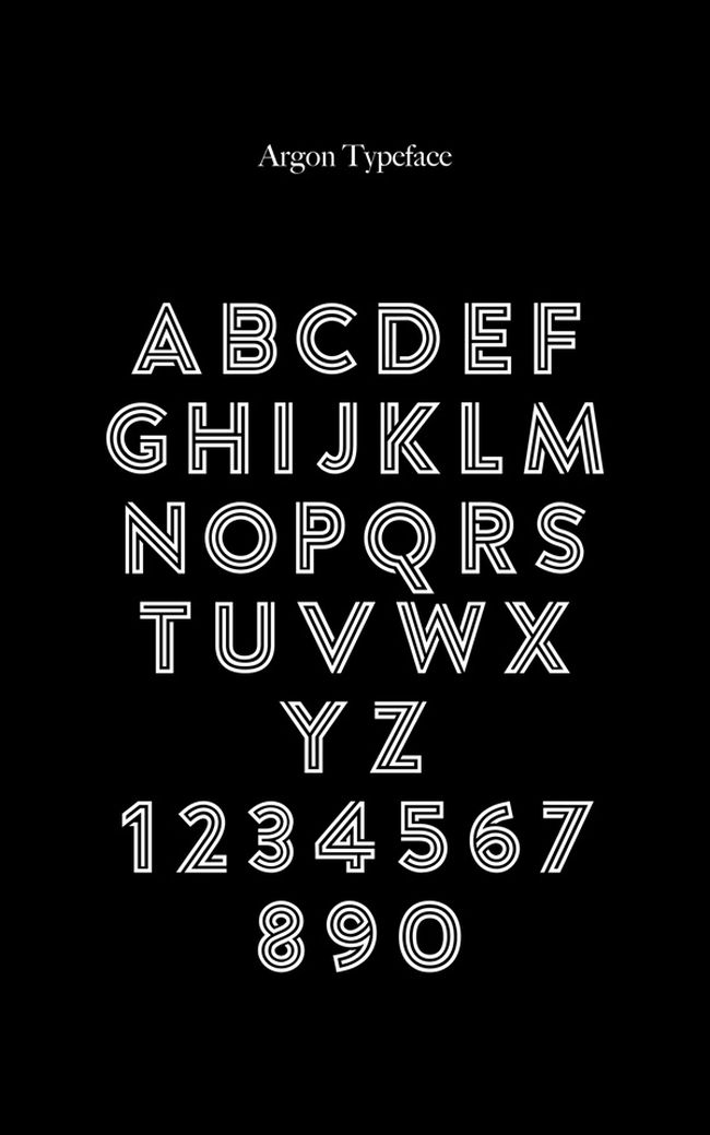 Argon-Free Font
