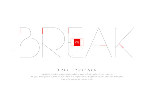 Break Fill-Free font