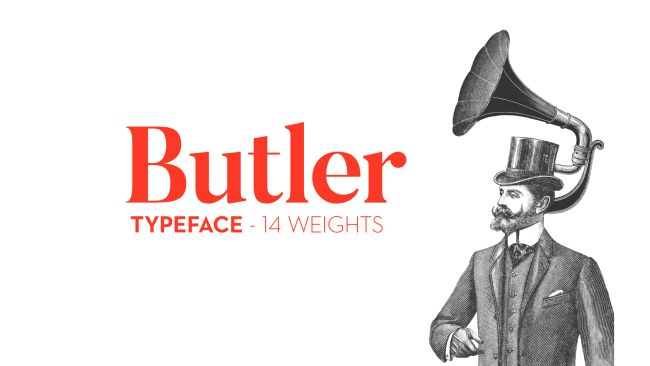 Buttler-free typeface