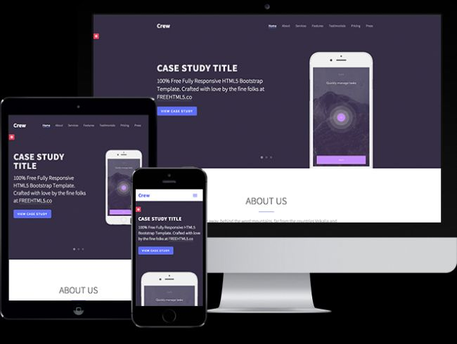 Crew - free HTML5 bootstrap template