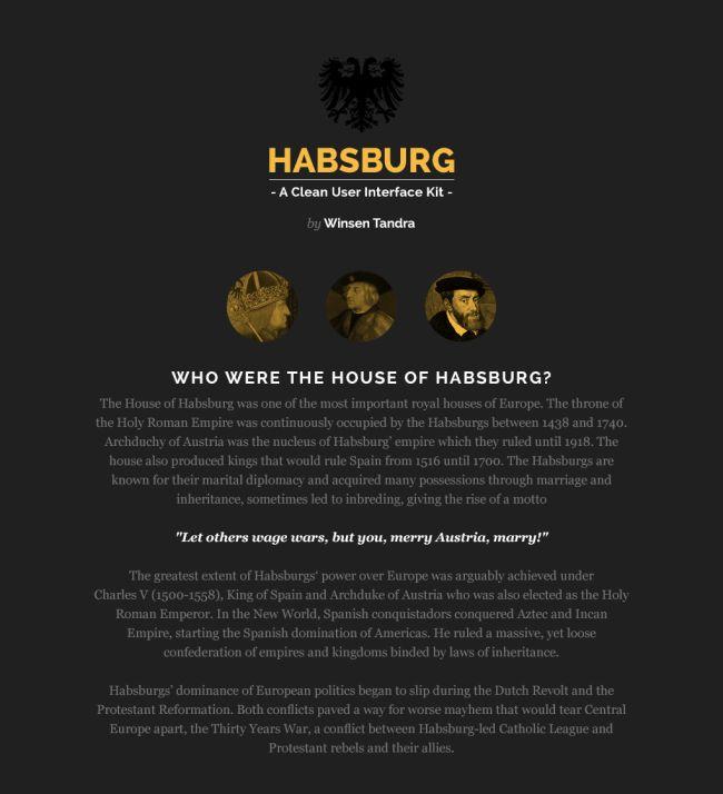 Habsburg - Free UI Kit