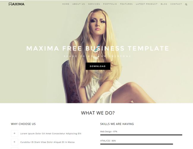 Maxima - Free Bootstrap Business HTML Template