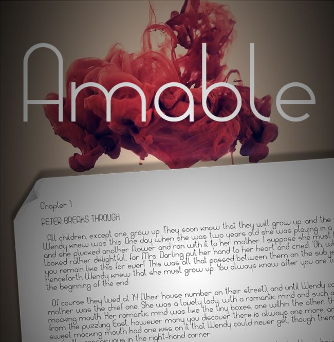 amable-free font