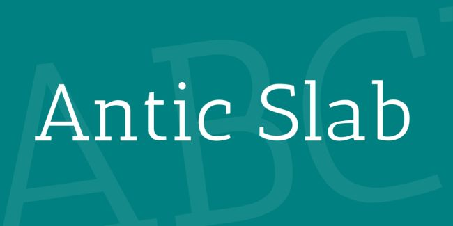 antic slab-free font