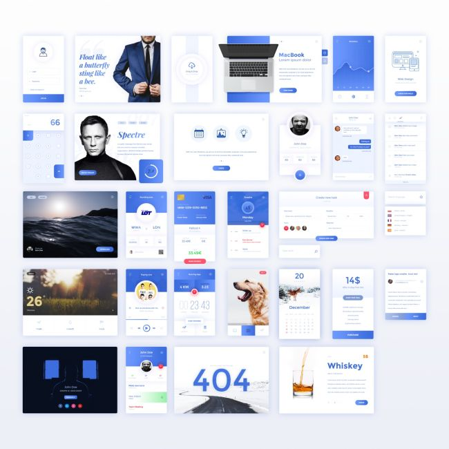 30 free UI Kit Elements