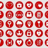 30 free valentine icons