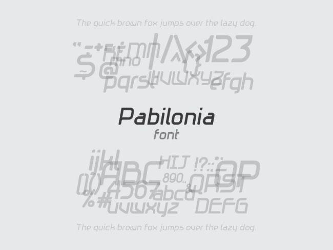 Pabilonia - Free Font