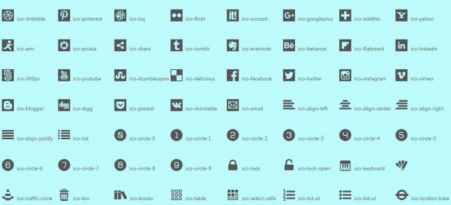 525 icon font