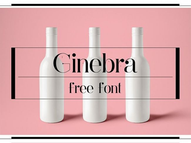 Ginebra- Free Font