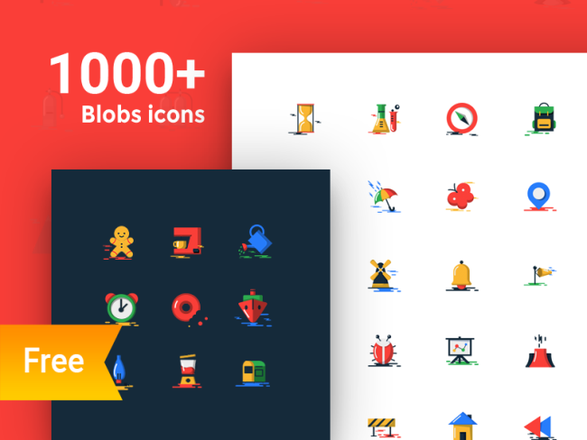 1000+ FREE BLOBS FLAT ICONS