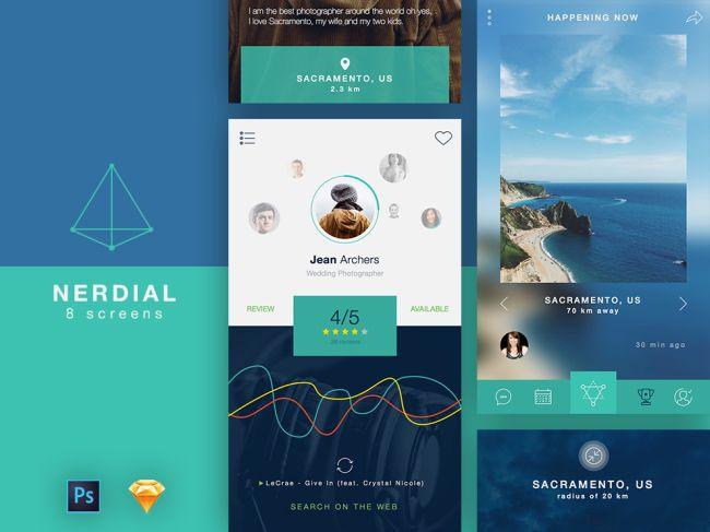 Nerdial - Free App UI Kit