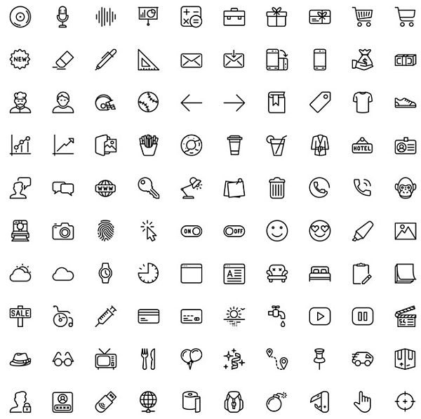 100 Free Icons (AI. EPS. SKETCH. SVG. PNG. WEB FONTS)