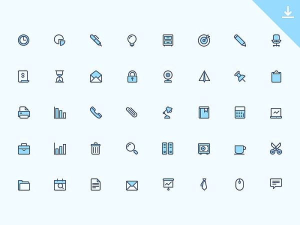 40 FREE OFFICE ICONS (AI, EPS, PNG)
