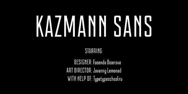 Kazmann Sans-free font