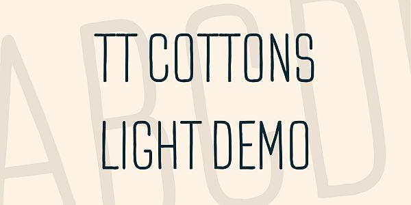 TT COTTONS - LIGHT DEMO FONT