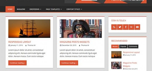 tortuga-free magazine wordpress theme