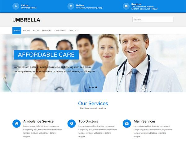 umbrella-free responsive wordpress theme