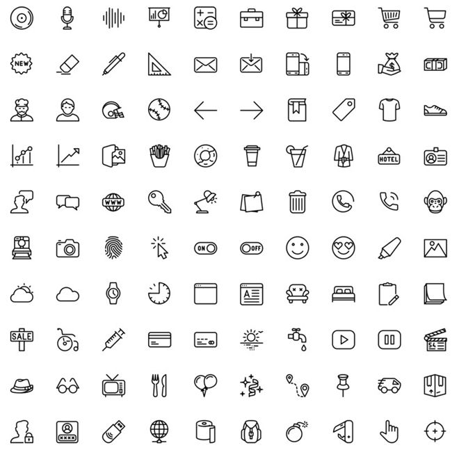 100 Line and Solid Icons