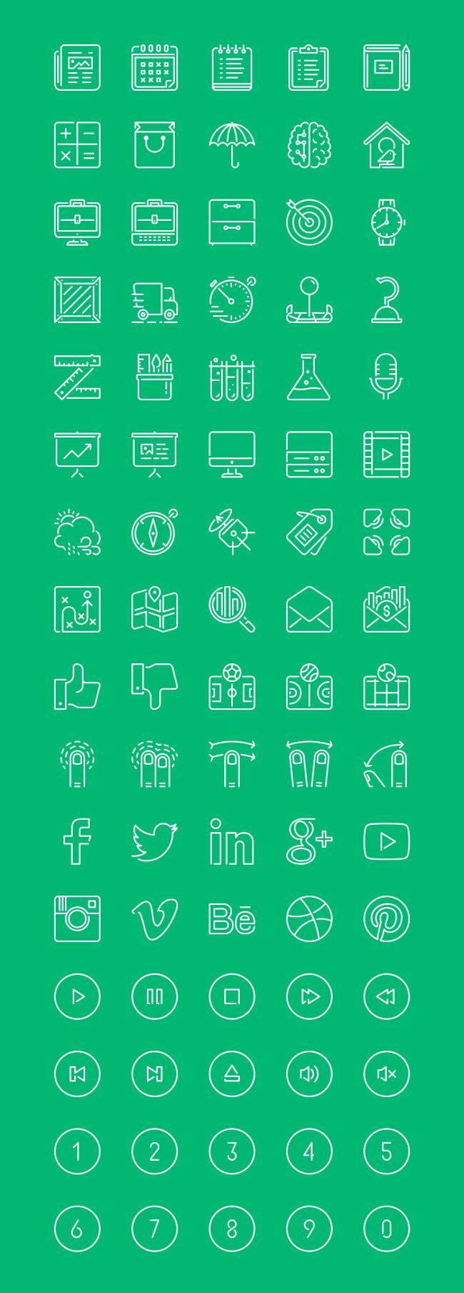 80 Free LineKing Icons