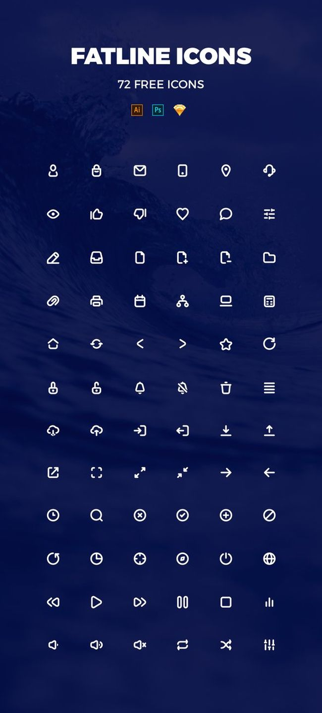 Free Fatline Icons