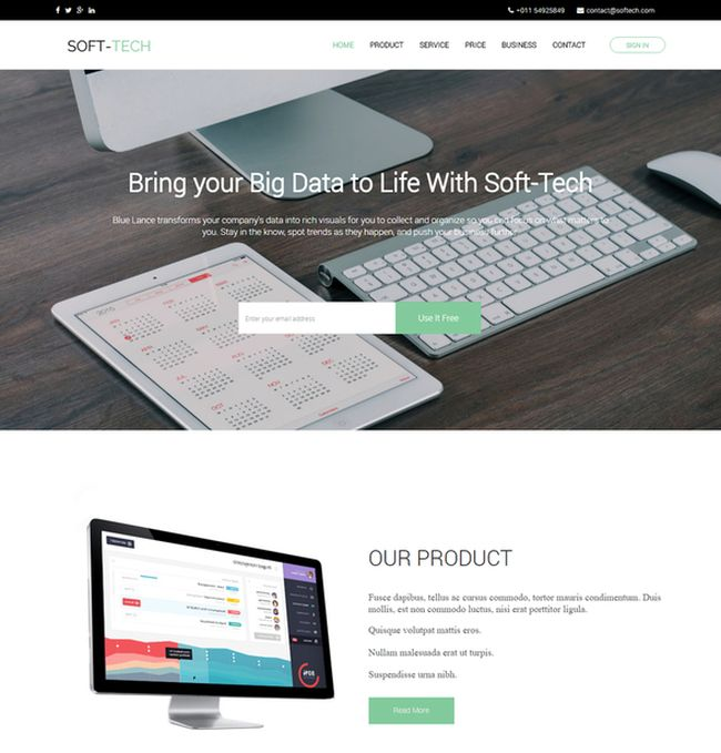 Soft-Tech – Free HTML Landing Page Template