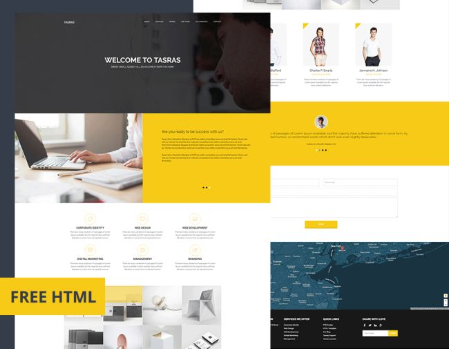 TASRAS – Free Bootstrap HTML Template