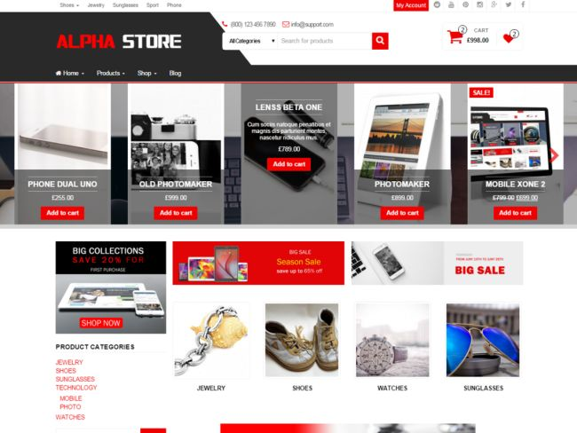 Alpha Store – Free WooCommerce WordPress Theme