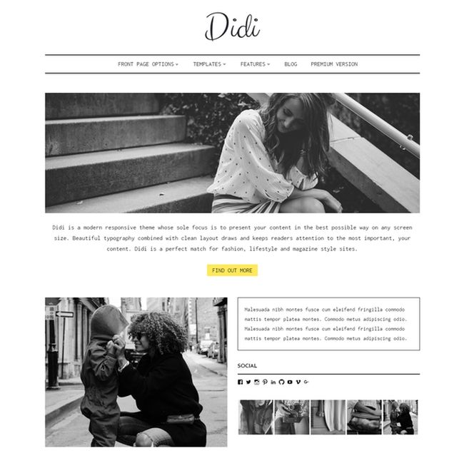 Didi Lite – Free Fashion WordPress Theme