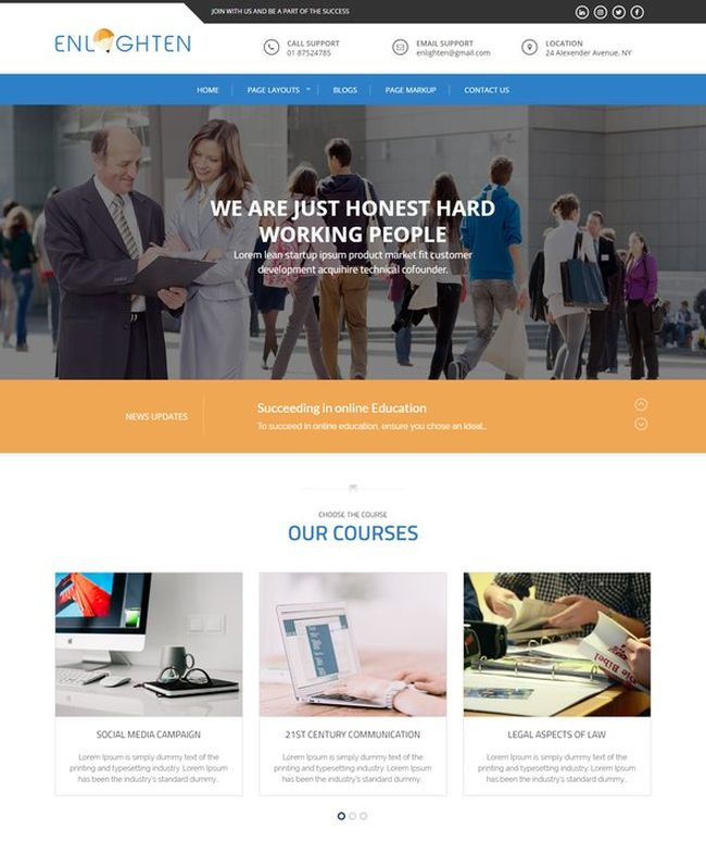 Enlighten - FREE education WordPress theme