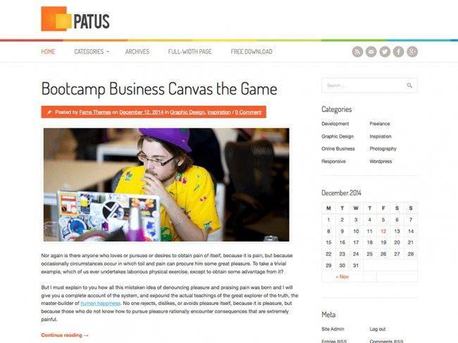 Patus - Free Personal Blogging Theme