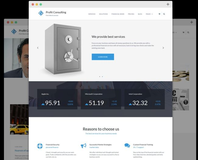 Profit – Free WordPress Financial Theme