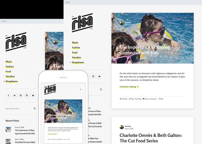 Risa - Free Personal Responsive Blog Theme