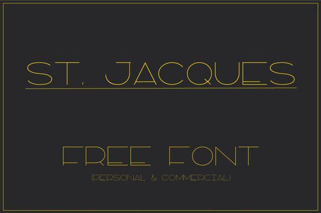 ST. JACQUES FREE FONT